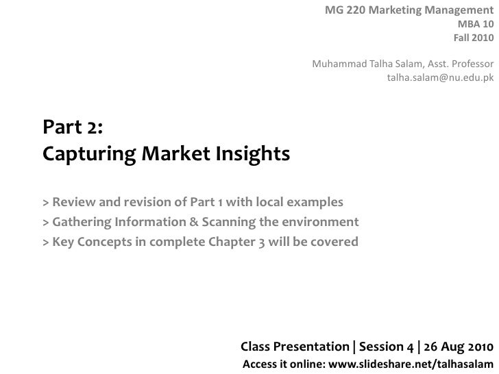 Session 4   MG 220 MBA - 26 Aug 10