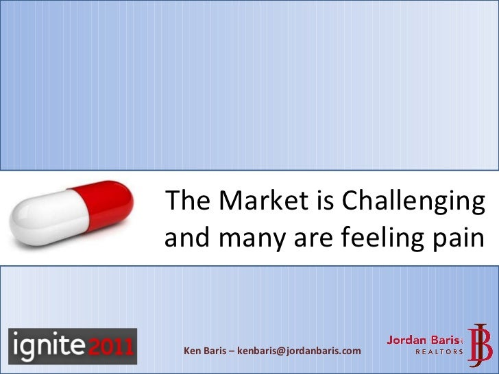 The Market is Challenging and many are feeling pain Ken Baris – kenbaris@jordanbaris.com