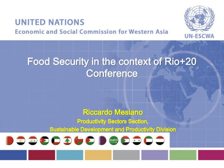 Food Security in the context of Rio+20            Conference                 Riccardo Mesiano               Productivity S...