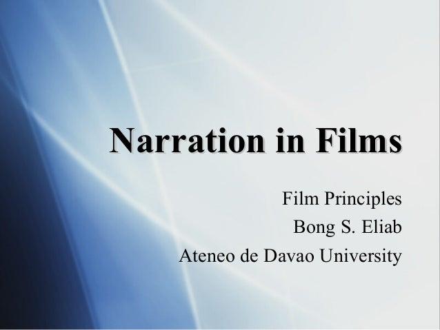 Session 4 film narration: Film Appreciation Course