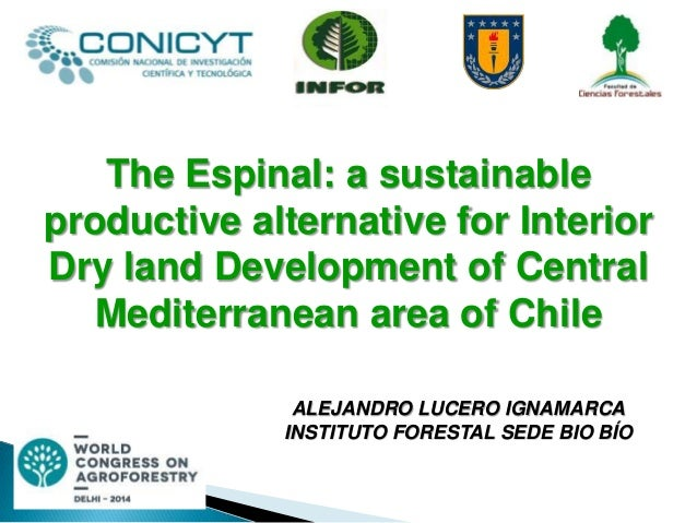 The Espinal: a sustainable productive alternative for Interior Dry land Development of Central Mediterranean area of Chile...