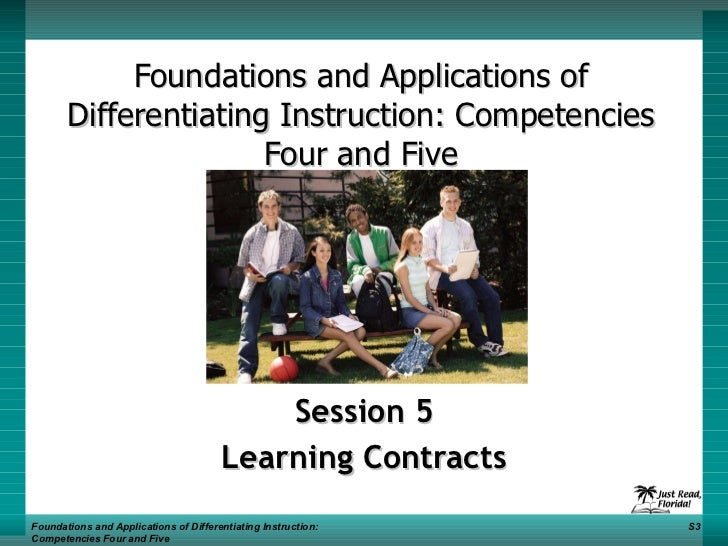 Foundations and Applications of Differentiating Instruction: Competencies Four and Five Session 5 Learning Contracts Found...