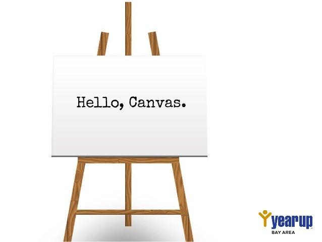 Hello, Canvas.