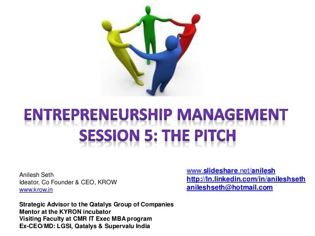 Session 5 the pitch