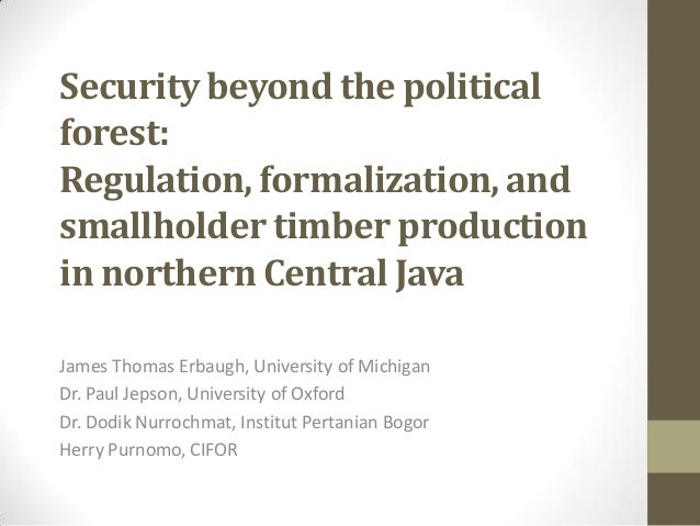 Session 6.1 security beyond the political forest, central java