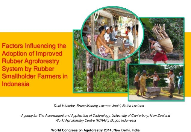 Factors Influencing the Adoption of Improved Rubber Agroforestry System by Rubber Smallholder Farmers in Indonesia  Dudi I...