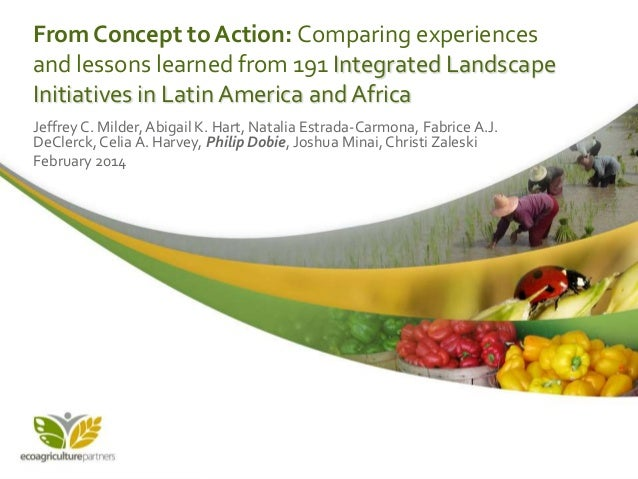 From Concept to Action: Comparing experiences and lessons learned from 191 Integrated Landscape Initiatives in Latin Ameri...