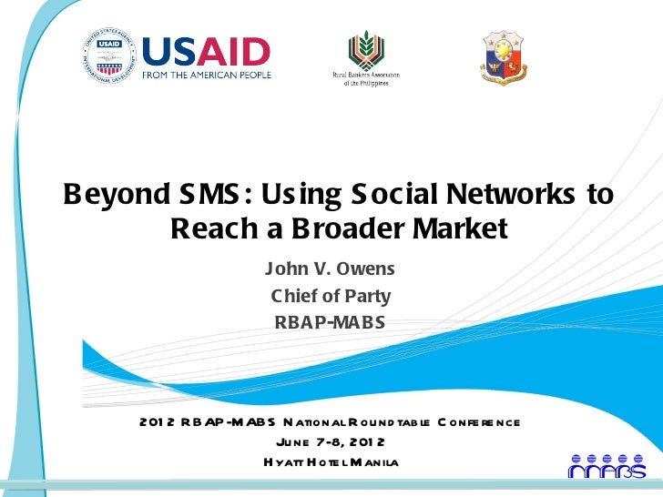 Beyond SMS Using Social Networks to Expand Access to Banking Services