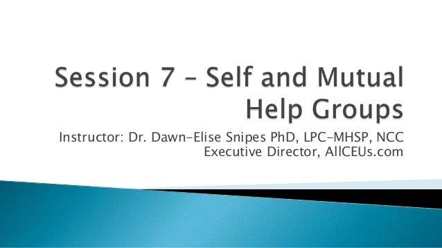 Phd thesis self help group