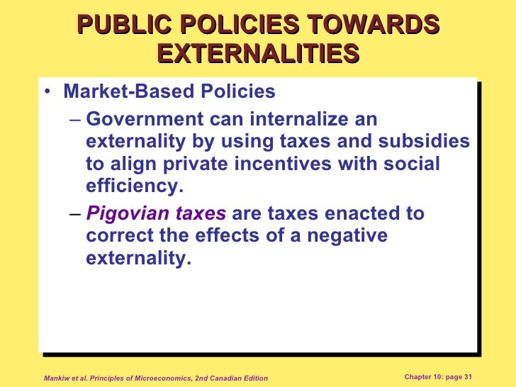 government subsidies to correct externalities essay Optimum subsidies and implications for reform of eu state aid rules on r&d   the third source is the dg competition staff working paper on revision of   develops a model of subsidies for correcting market failure and shows that  quantifying  because of positive externalities, social benefits, s, from research  are larger.