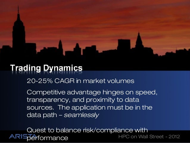 20-25% CAGR in market volumesCompetitive advantage hinges on speed,transparency, and proximity to datasources. The applica...
