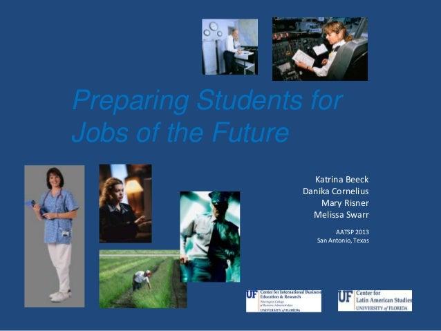Katrina Beeck Danika Cornelius Mary Risner Melissa Swarr AATSP 2013 San Antonio, Texas Preparing Students for Jobs of the ...