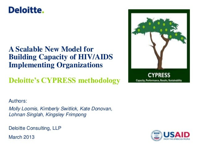 A Scalable New Model forBuilding Capacity of HIV/AIDSImplementing OrganizationsDeloitte's CYPRESS methodologyAuthors:Molly...