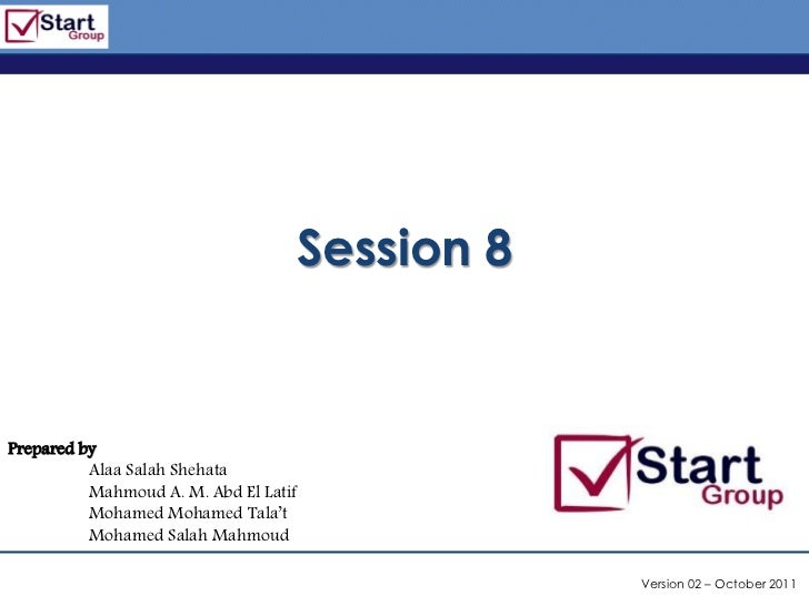 http://www.bized.co.uk                                   Session 8Prepared by          Alaa Salah Shehata          Mahmoud...
