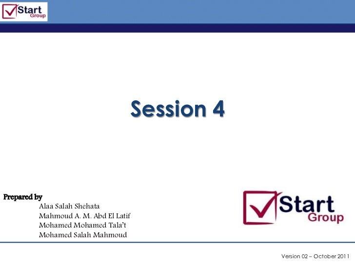 http://www.bized.co.uk                                   Session 4Prepared by          Alaa Salah Shehata          Mahmoud...
