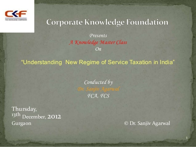 "Presents                      A Knowledge Master Class                                On   ""Understanding New Regime of Se..."