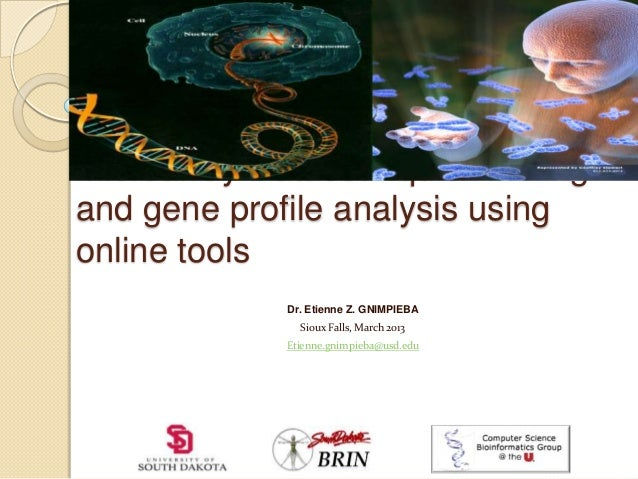 Microarray Dataset: quick miningand gene profile analysis usingonline toolsDr. Etienne Z. GNIMPIEBASioux Falls, March 2013...