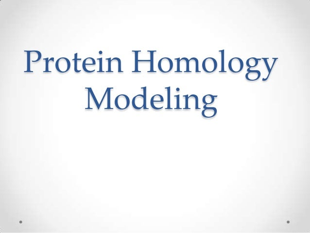 Protein HomologyModeling
