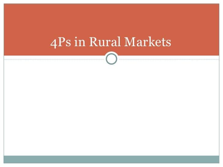 Session iii  rural marketing