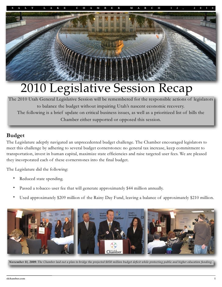2010 Legislative Session Recap