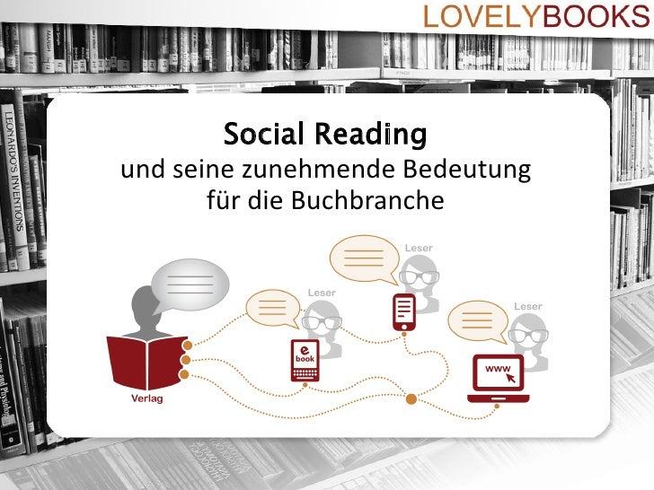 Social Readingund seine zunehmende Bedeutung       für die Buchbranche