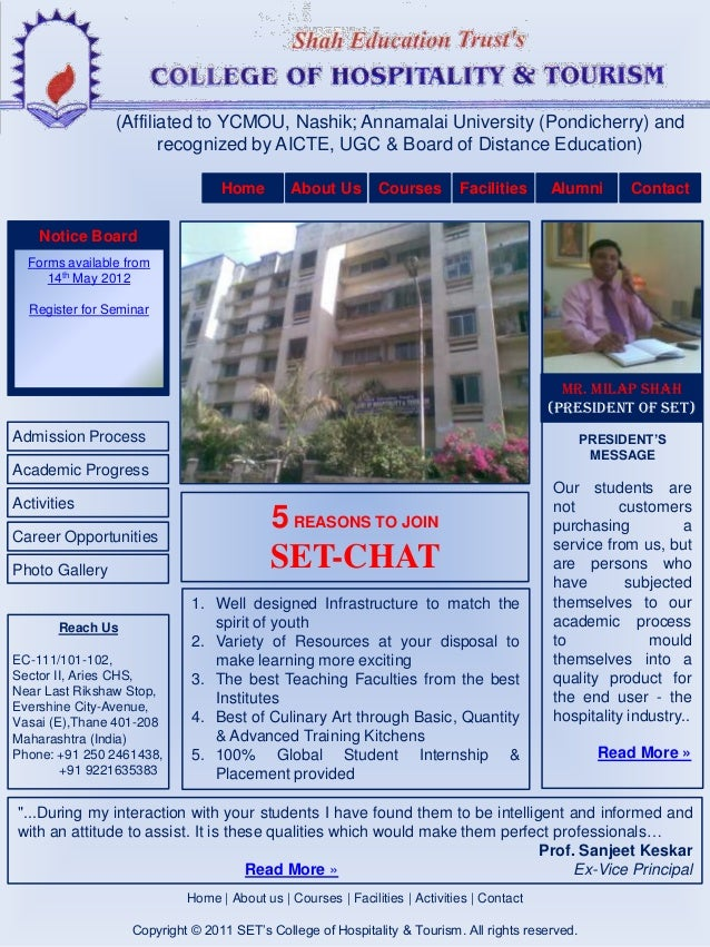 Shah Institute of Hospitality (Hotel Management) & Tourism