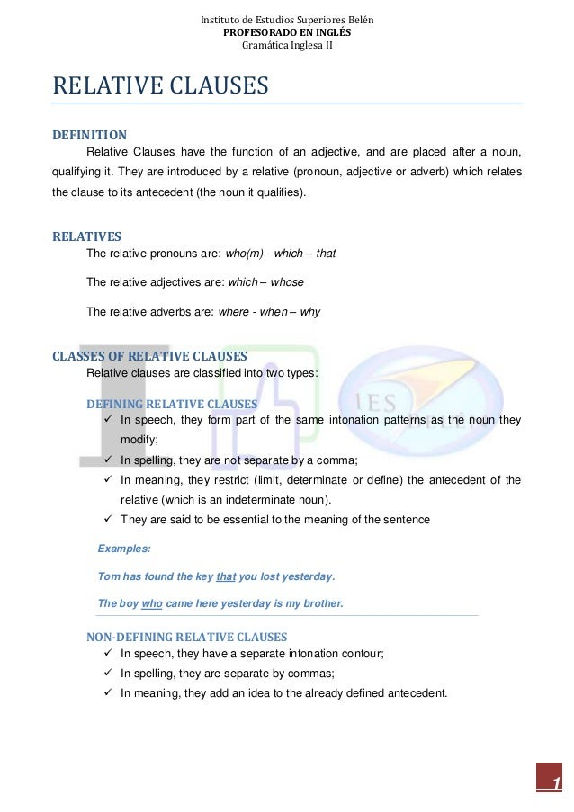 13 Intro to Relative Clauses