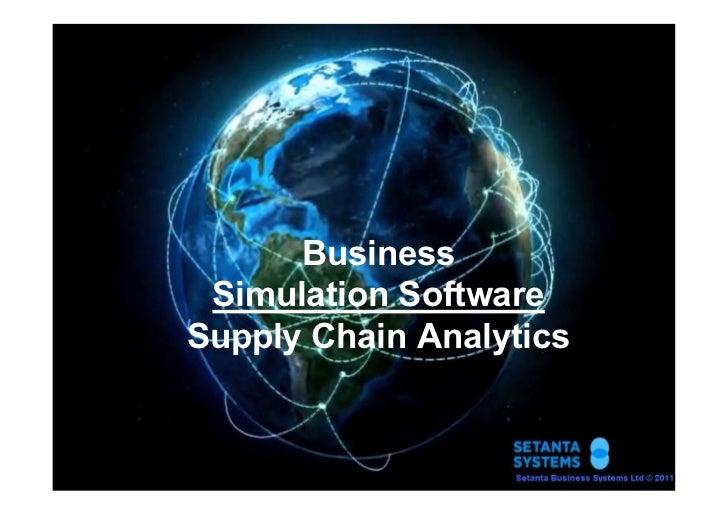 Business Simulation SoftwareSupply Chain Analytics                         1