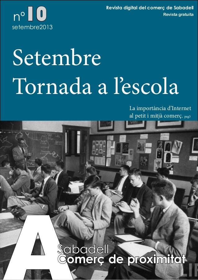 A Sabadell Comerç de proxiitat . Setembre 2013
