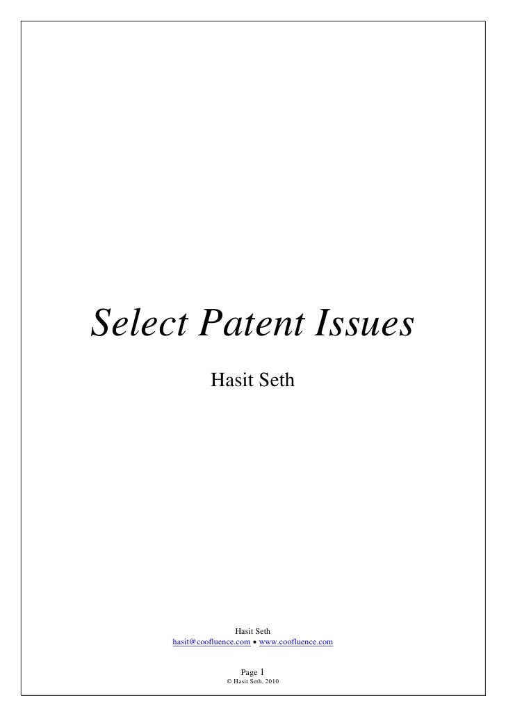 Select Patent Issues