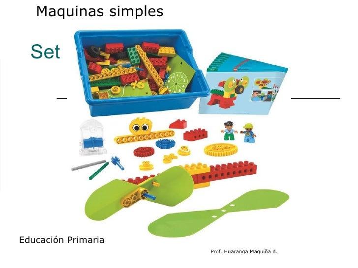Set MOTORIZADOS  Maquinas simples  Educación Primaria Prof. Huaranga Maguiña d.