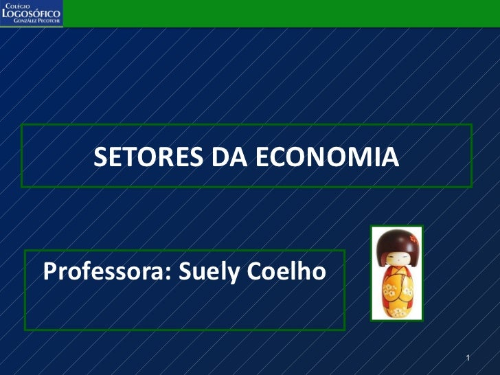 SETORES DA ECONOMIA <ul><li>Professora: Suely Coelho </li></ul>