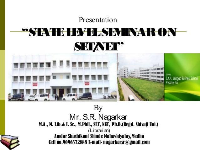 Set seminar sinhgad Pundharpur