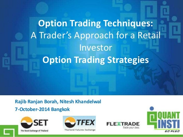 Index options trading example