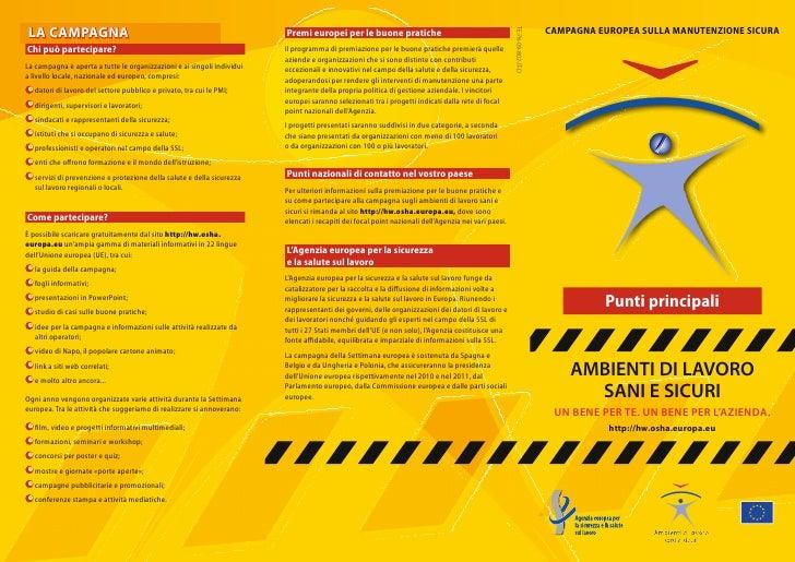 LA CAMPAGNA                                                             Premi europei per le buone pratiche               ...