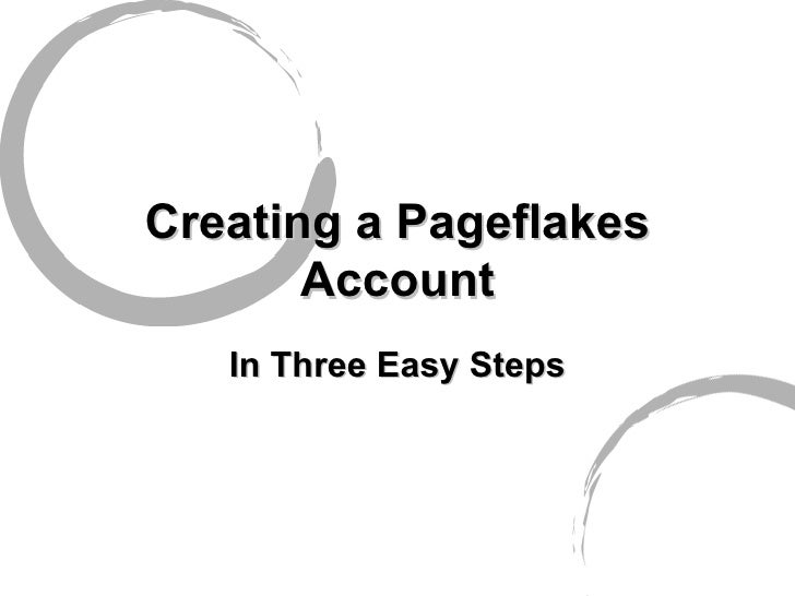 Setting up Pageflakes Accounts