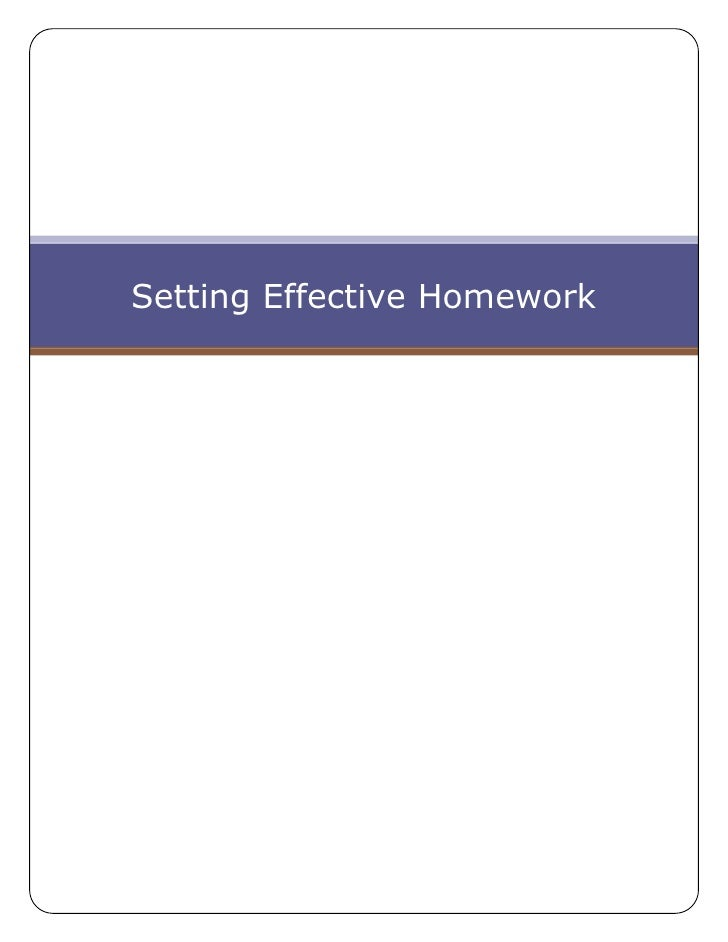 Setting Effective Homework<br />Homework<br />8255298450We use many of the methods listed in the article below from Latte ...