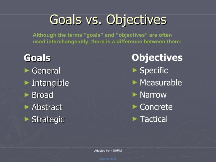 how to do goal and objectives You need a touch of positive aggression and a realistic company vision to create effective goals and objectives for your employees the most effective.
