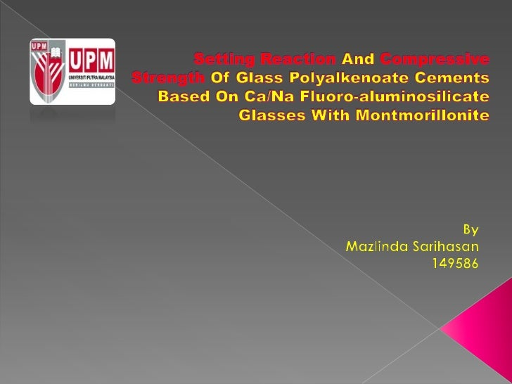 Setting reaction & compressive strength of GPC