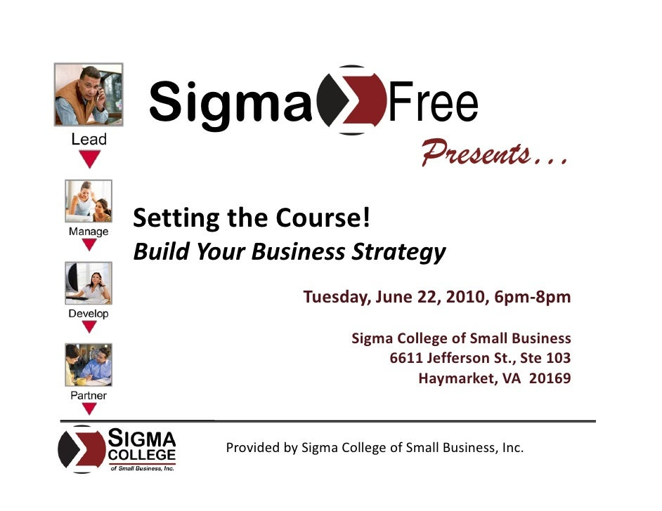 Setting The Course! Build Your Business Strategy