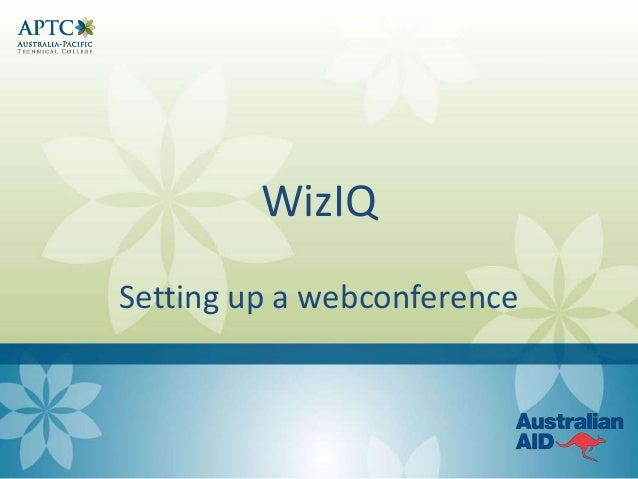 WizIQ Setting up a webconference