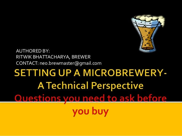 Setting up a microbrewery