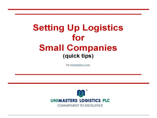 Don't do it all on your ownIn most cases the solution to do all logistic work  inhouse cant really reduce the expenses    ...