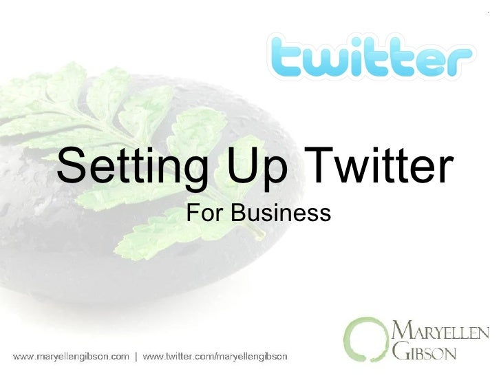 Setting Up Twitter For Business