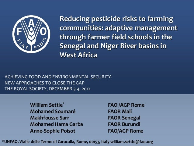 Reducing pesticide risks to farming communities: adaptive management through farmer field schools in the Senegal and Niger...