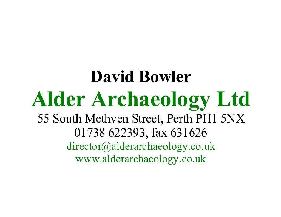 Settlement david bowler-alder archaeology ltd