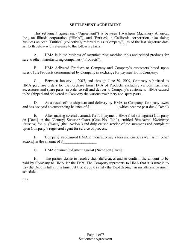 Attorney Settlement Letter