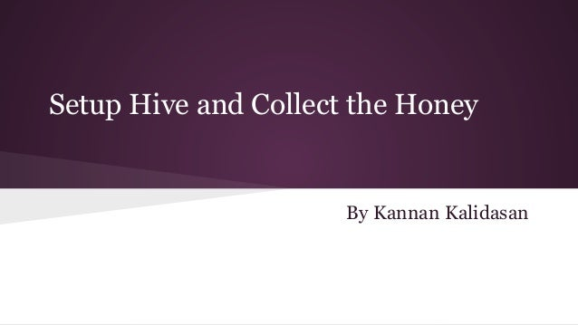 Setup Hive and Collect the Honey  By Kannan Kalidasan