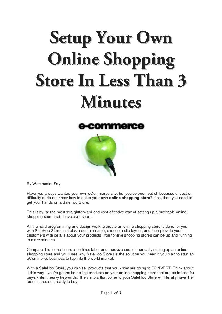 By Worchester SayHave you always wanted your own eCommerce site, but youve been put off because of cost ordifficulty or do...