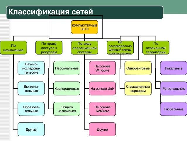 Классификация сетей